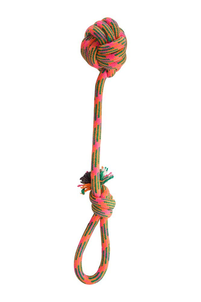 Dog Rope Ball Pull - Orange