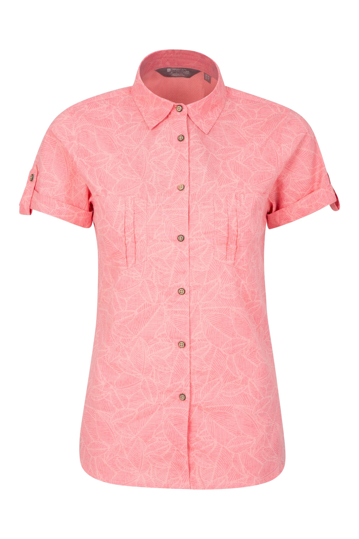 Coconut Womens Short Sleeve Shirt - Pink