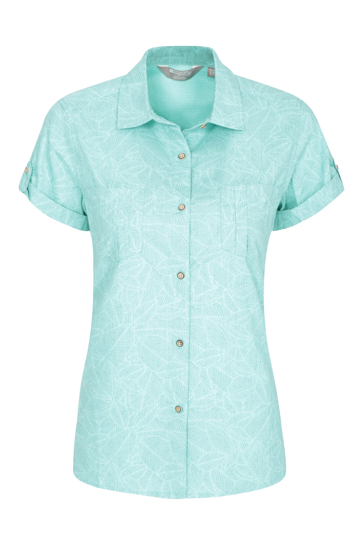 Coconut Womens Short Sleeve Shirt - Green