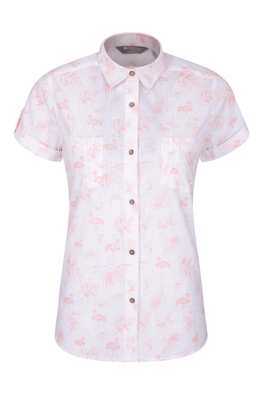 Coconut Damen Kurzarm Shirt - Weiss