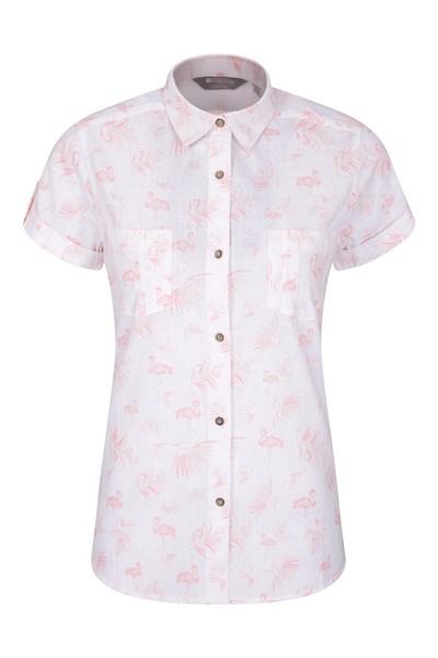 Coconut Womens Short Sleeve Shirt - White