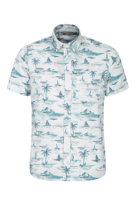 Mountain Warehouse Men Horizontal Stripe Short Sleeve Shirt