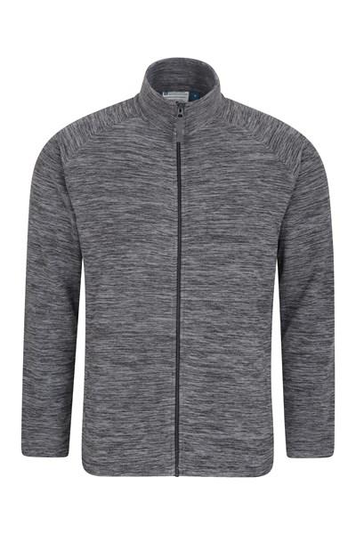 Snowdon Mens Full Zip Fleece - Black