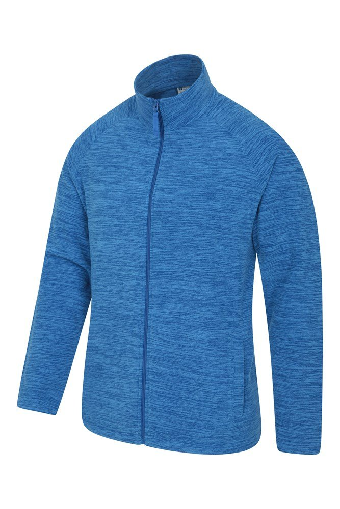 Quick Drying Soft /& Smooth Pullover Winter Walking Warm Breathable for Travelling Zip Collar Fleece Sweater Mountain Warehouse Snowdon Mens Micro Fleece Top