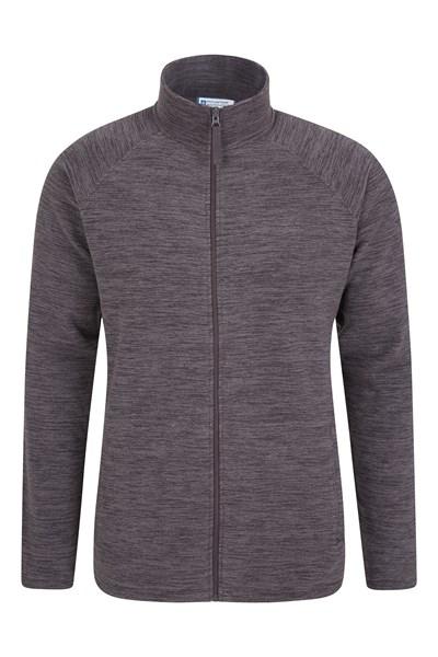 Snowdon Mens Full Zip Fleece - Grey