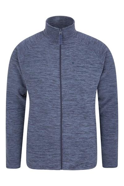Snowdon Mens Full Zip Fleece - Navy