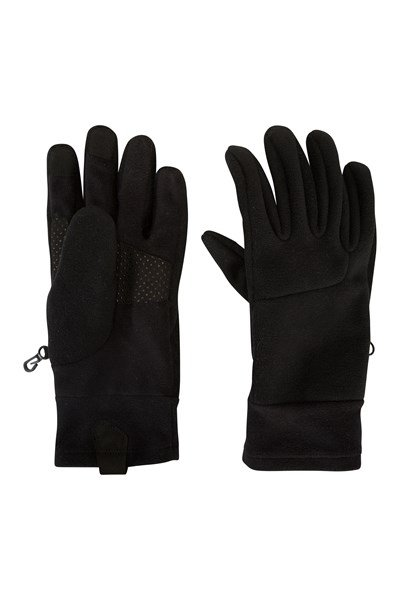 Womens Windproof Thinsulate Gloves - Black