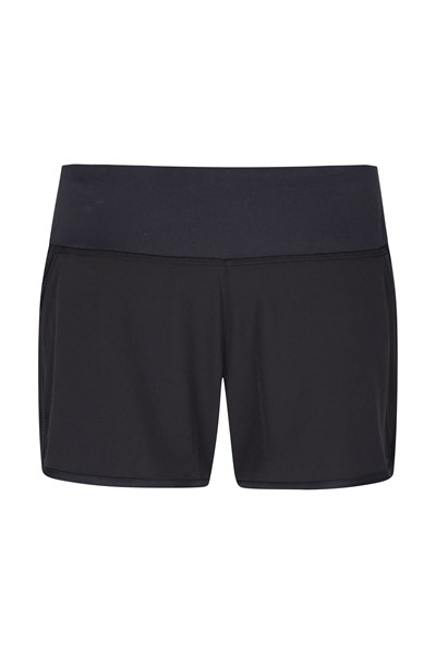 Zakti Womens Racing Heart Run Shorts - Black