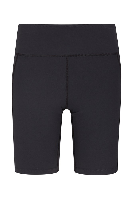 Zakti Womens Get The Message Yoga Shorts - Black