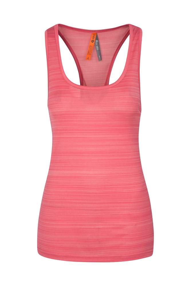Womens Endurance Striped Vest - Pink