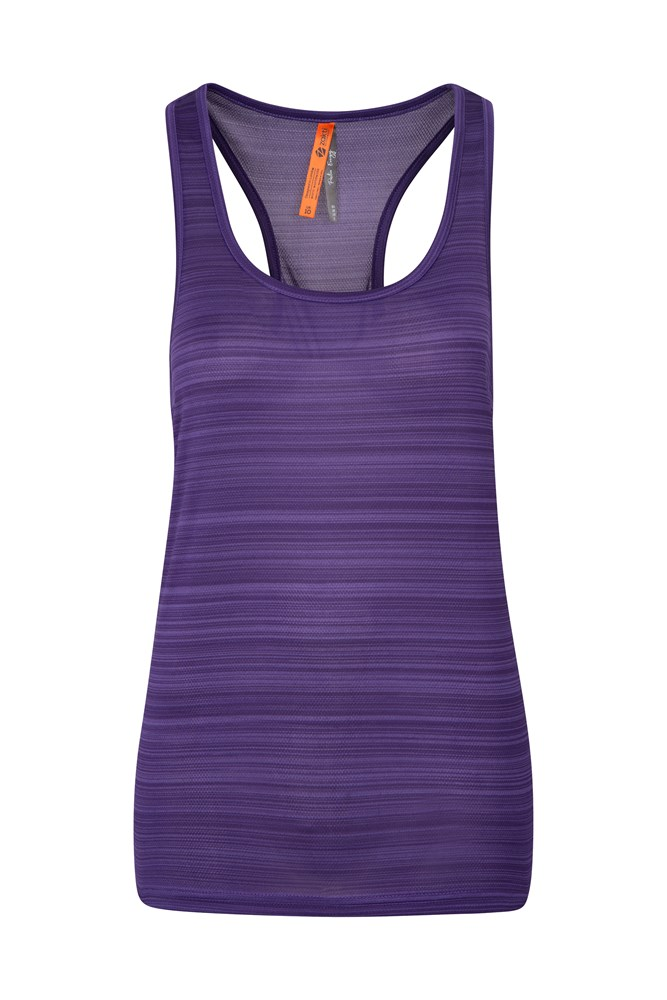 Womens Endurance Striped Vest - Purple