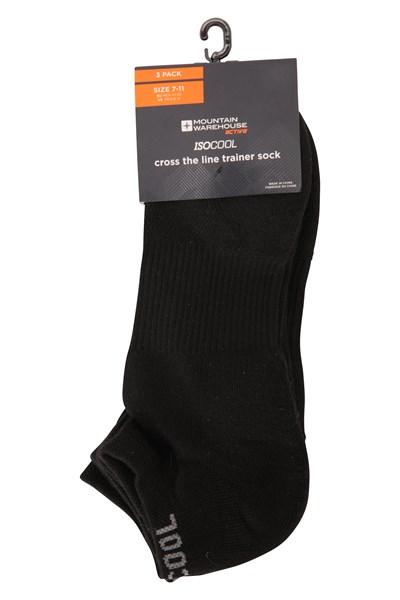 Cross The Line Mens Trainer Socks - Black