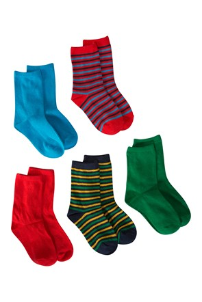 Stripe Junior Socks - 5 Pack