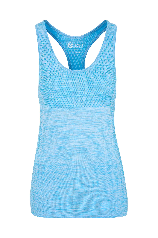 Zakti Pacesetter Seamless Womens Vest - Blue