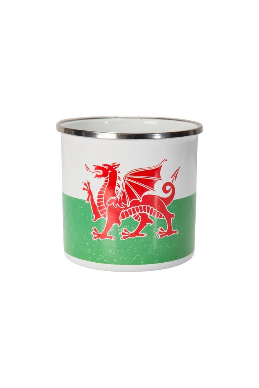 Rustic Wales Enamel Mug - Green