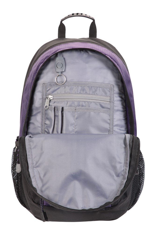 Womens /& Mens Back, Mountain Warehouse Merlin 30L Backpack Reflective Details