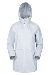 Rain Drops Womens Waterproof Long Jacket