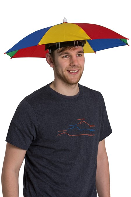 026201 UMBRELLA HAT RAINBOW
