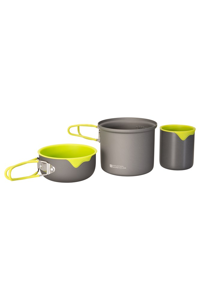 Solo Hard Anodised Cookset - Grey