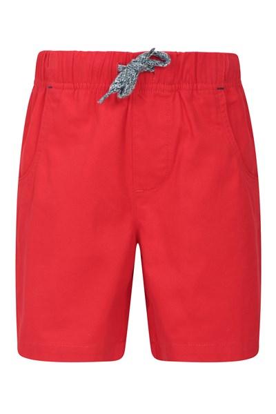 Waterfall Kids Shorts - Red