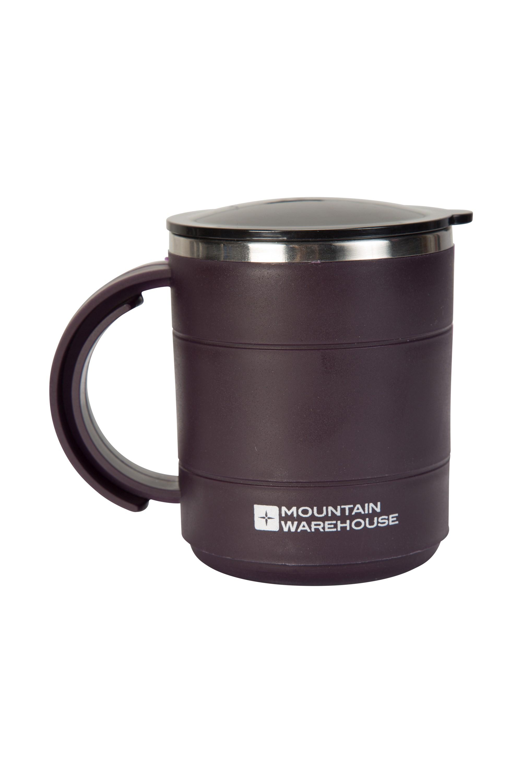 Plastic Double Walled Mug - 420ml - Purple