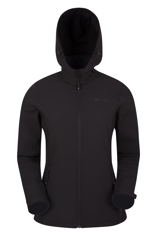 Hollen Hooded Womens Softshell Jacket - Black