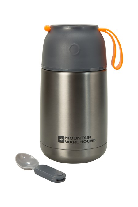 027967 FOOD FLASK WITH SPOON 650ML