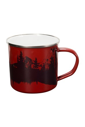 Mountain Scene Enamel Mug