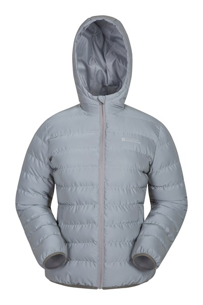 Seasons Reflective Womens Padded Jacket - Silver