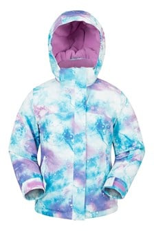 Enchanted Kids Printed Ski Jacket  Purple