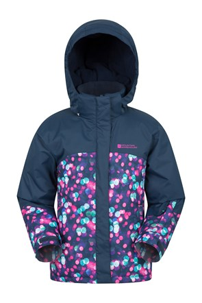 Night Light Kids Printed Ski Jacket