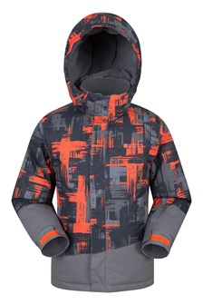Downhill Kids Printed Ski Jacket  Orange