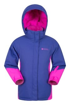 Icicle Waterproof Kids Ski Jacket Grape