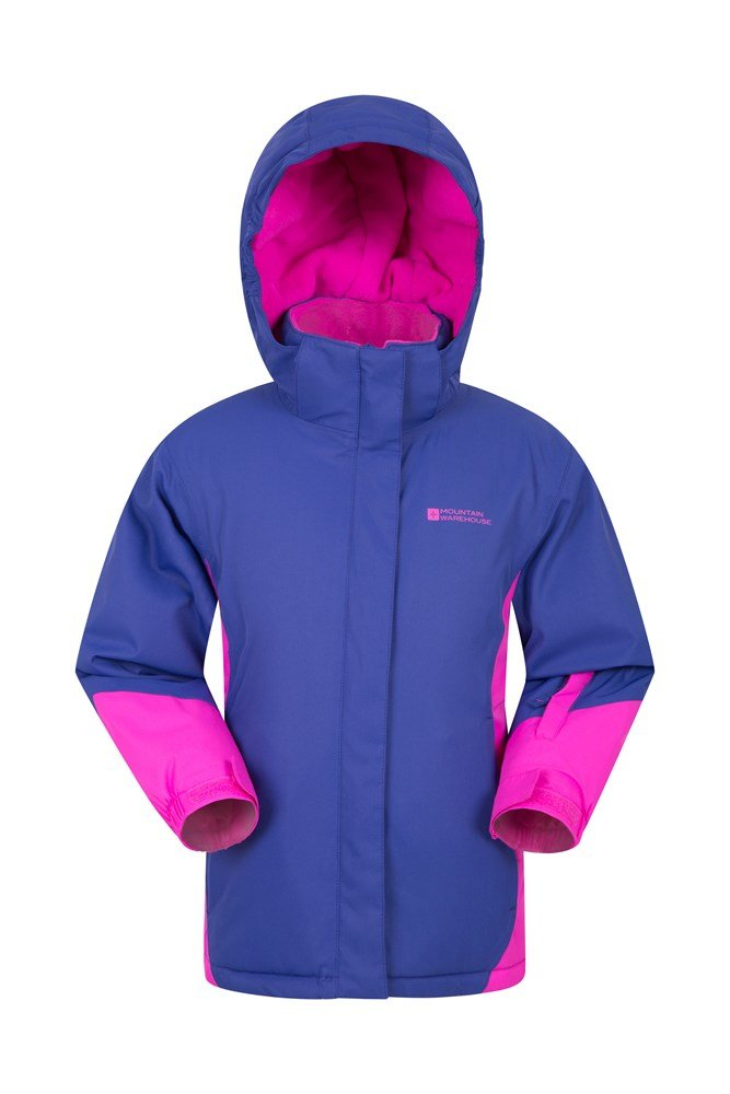 Icicle Waterproof Kids Ski Jacket - Purple