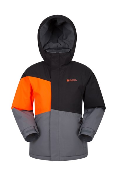 Avalanche Waterproof Kids Ski Jacket - Charcoal