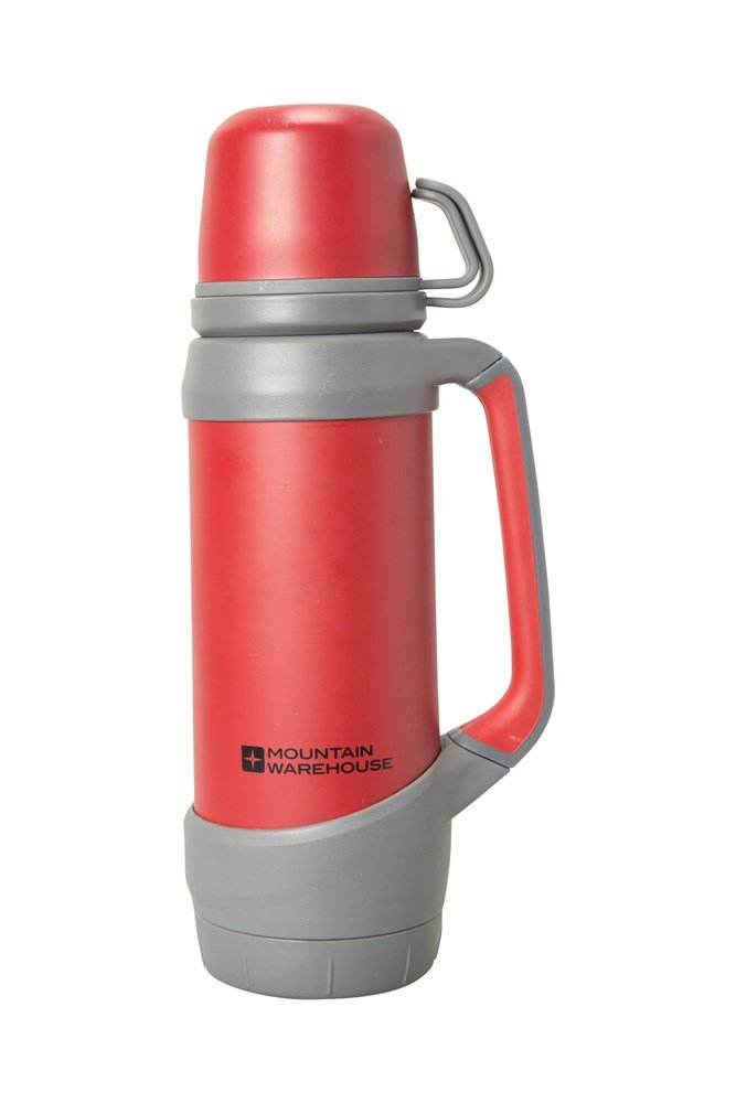 Mountain Warehouse Rubber Finish Double Walled Flask 1 L Capacity