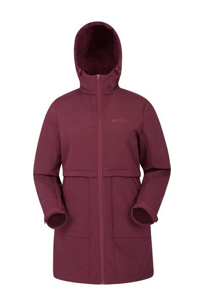 Arctic Longline Womens Softshell - Burgundy