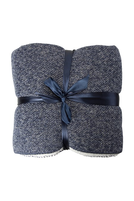 028119 DOUBLE FLEECE BLANKET MELANGE