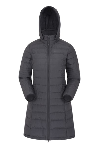 Furnace Womens Long Down Padded Jacket - Black