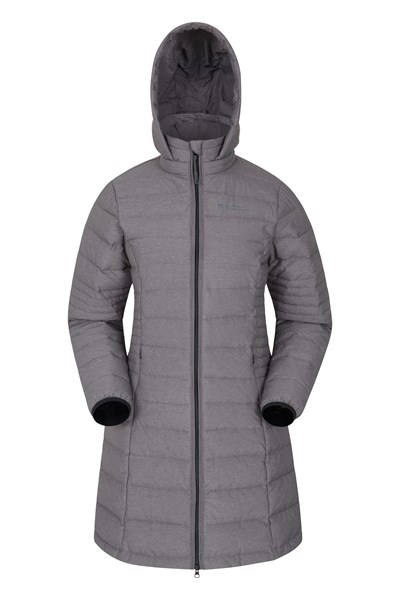Furnace Womens Long Down Padded Jacket - Grey