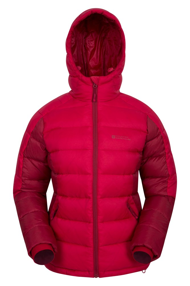 Crevasse Womens Down Jacket - Red