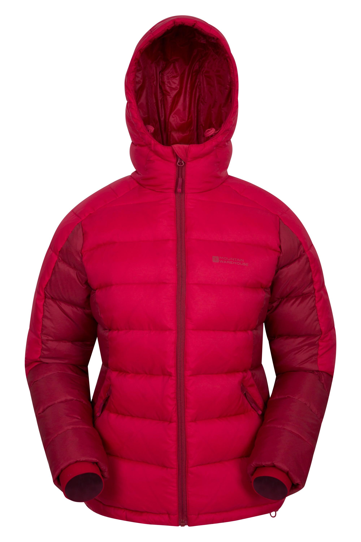 Crevasse - puchowa kurtka damska - Red