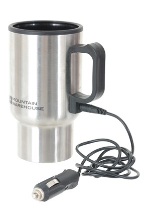 Metallic Travel Mug with Car Adapter - 400ml