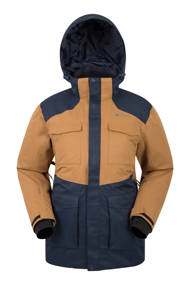 Luna Ii Mens Ski Jacket - Brown