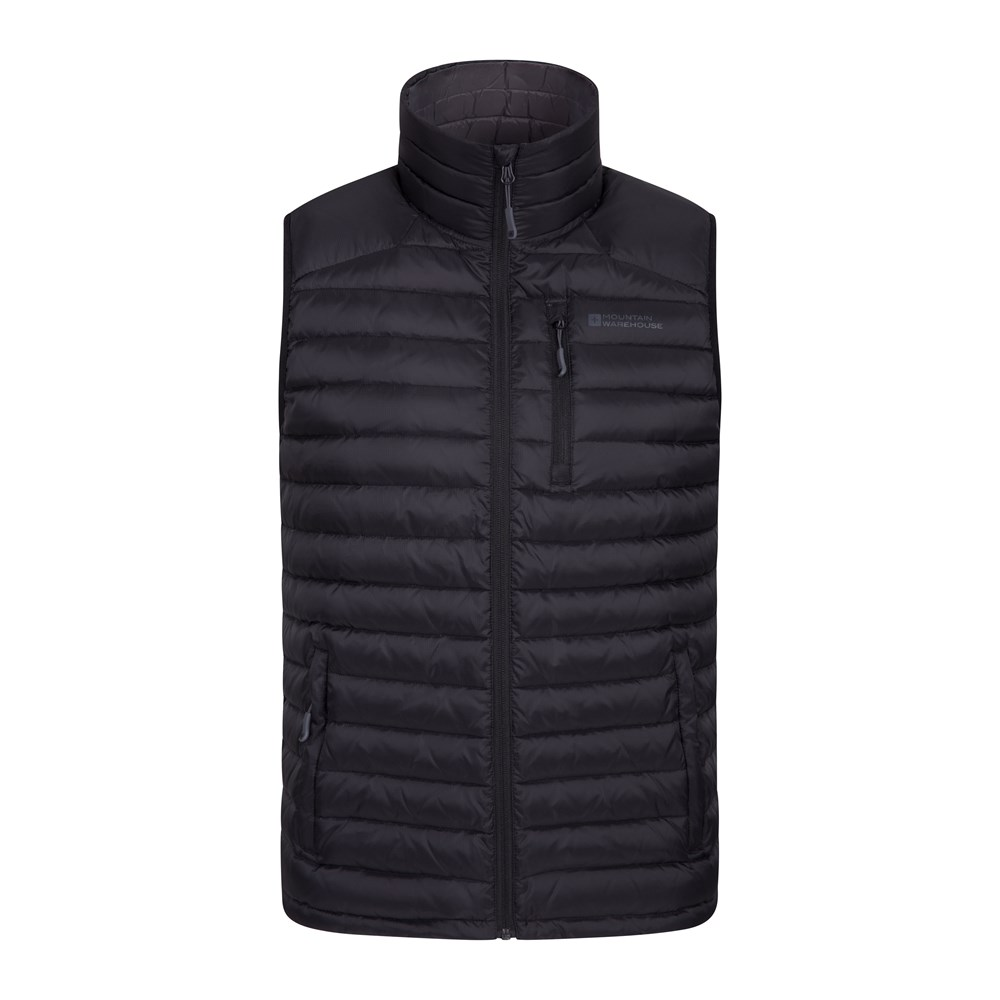 d905ee415aa Mountain Warehouse Henry II Mens Down Padded Gilet - Lightweight Vest,  Cycling