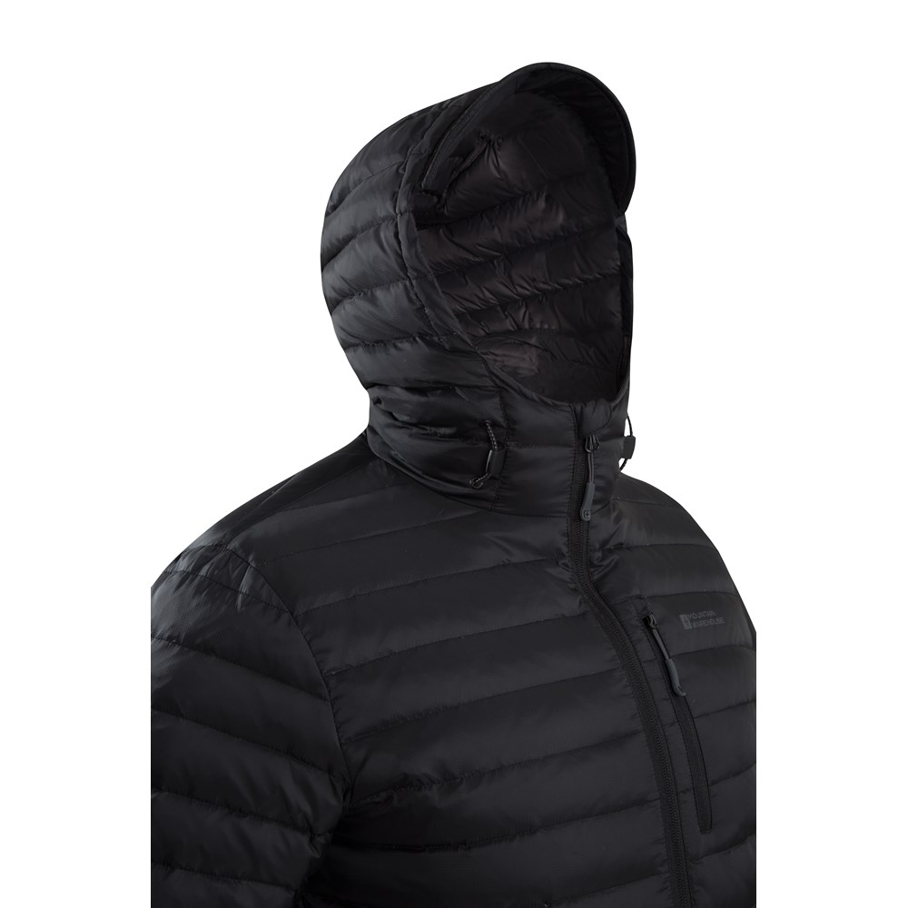 Mountain-Warehouse-Mens-Down-Padded-Jacket-Water-Resistant-Winter-Coat miniatura 10