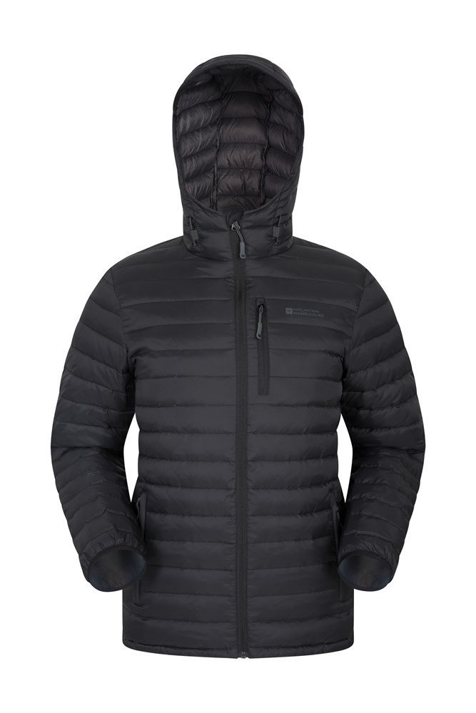 Henry II Mens Down Padded Jacket - Black