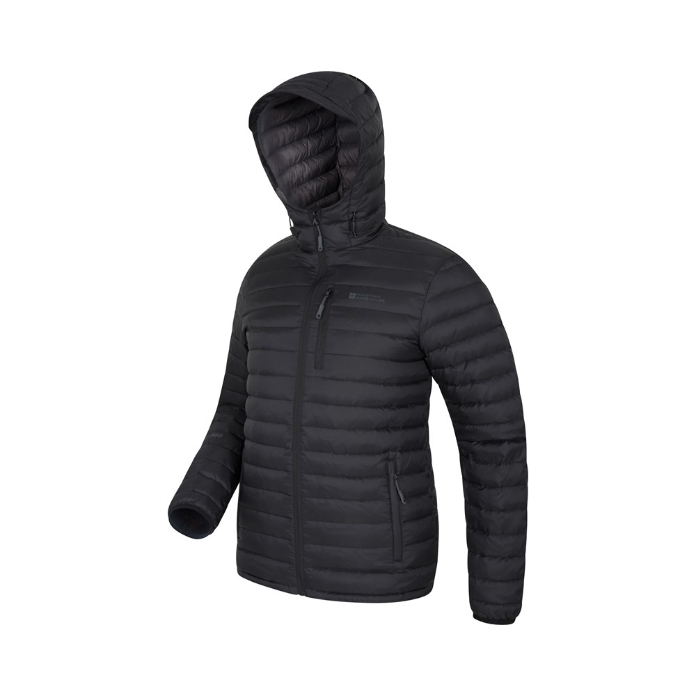 Mountain-Warehouse-Mens-Down-Padded-Jacket-Water-Resistant-Winter-Coat miniatura 12