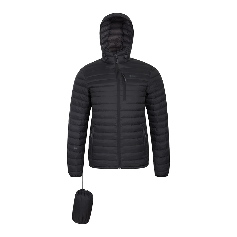 Mountain-Warehouse-Mens-Down-Padded-Jacket-Water-Resistant-Winter-Coat miniatura 11