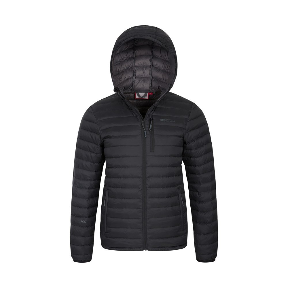 Mountain-Warehouse-Mens-Down-Padded-Jacket-Water-Resistant-Winter-Coat miniatura 13